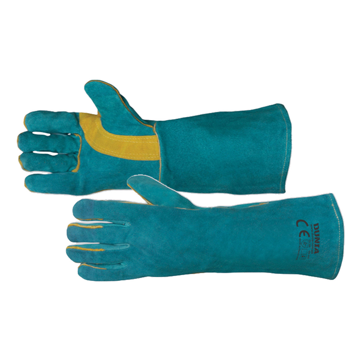 DTC-1021 Green Welder Gloves Hockey Palm