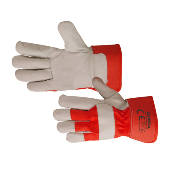 DTC-438-R Grain Leather Work Gloves Red