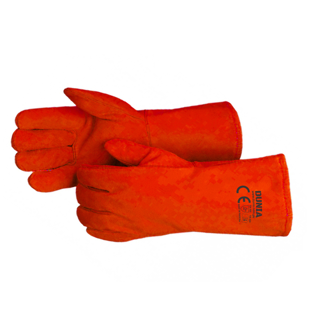 "DTC-723-R Red Welding Gloves 16"" Long"
