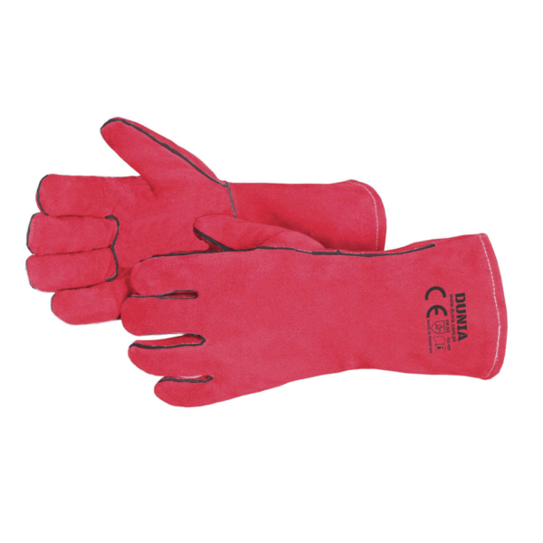 DTC-735-R Red Welder Gloves Welted Seams