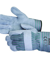 DTC-738-GG Leather Work Gloves Green
