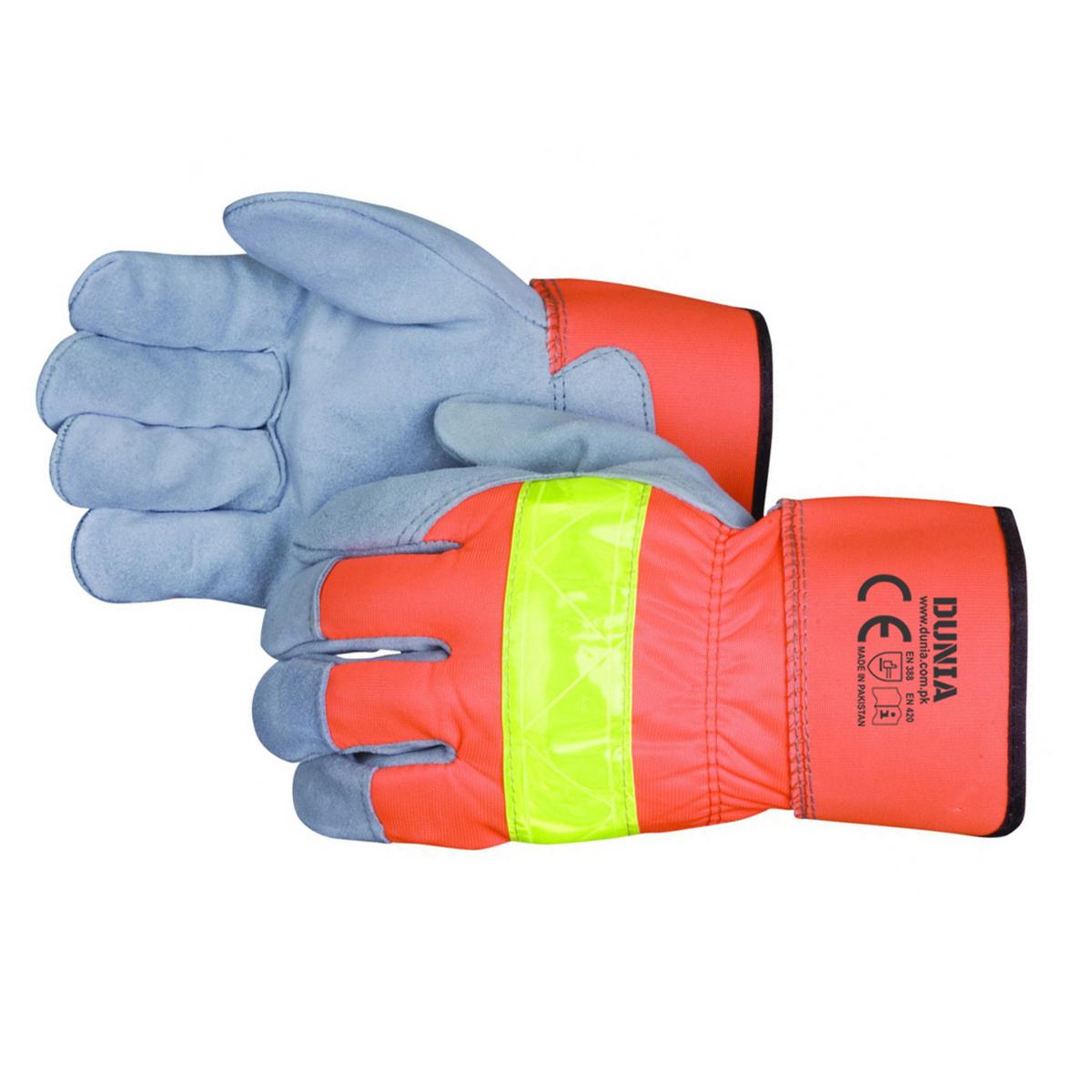 DTC-739 Hi-Vis Leather Work Gloves