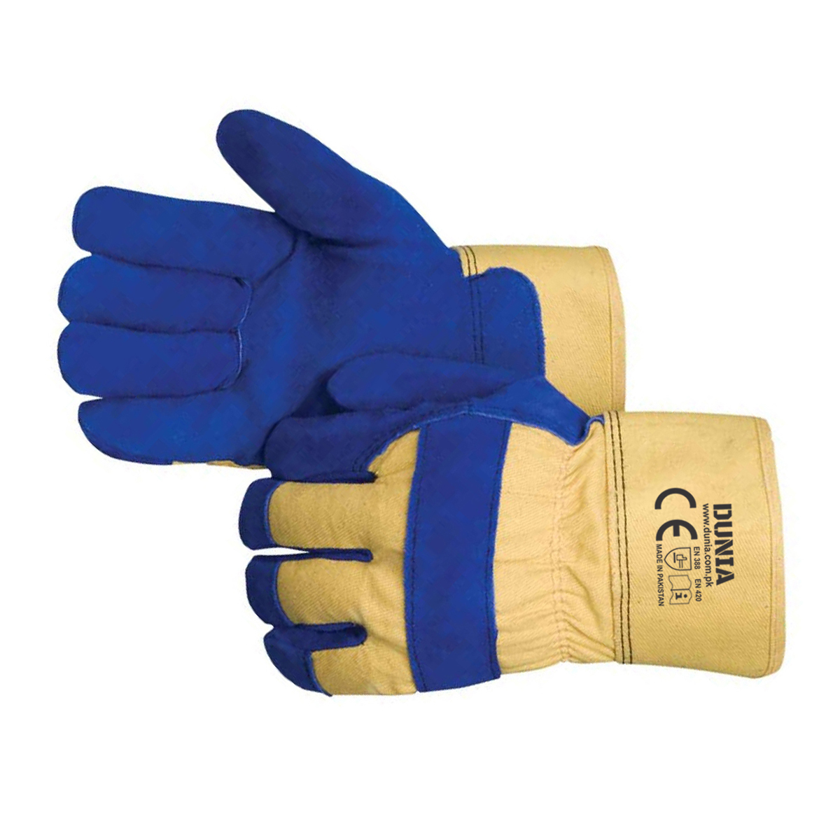 DTC-741 Blue Leather Winter Gloves
